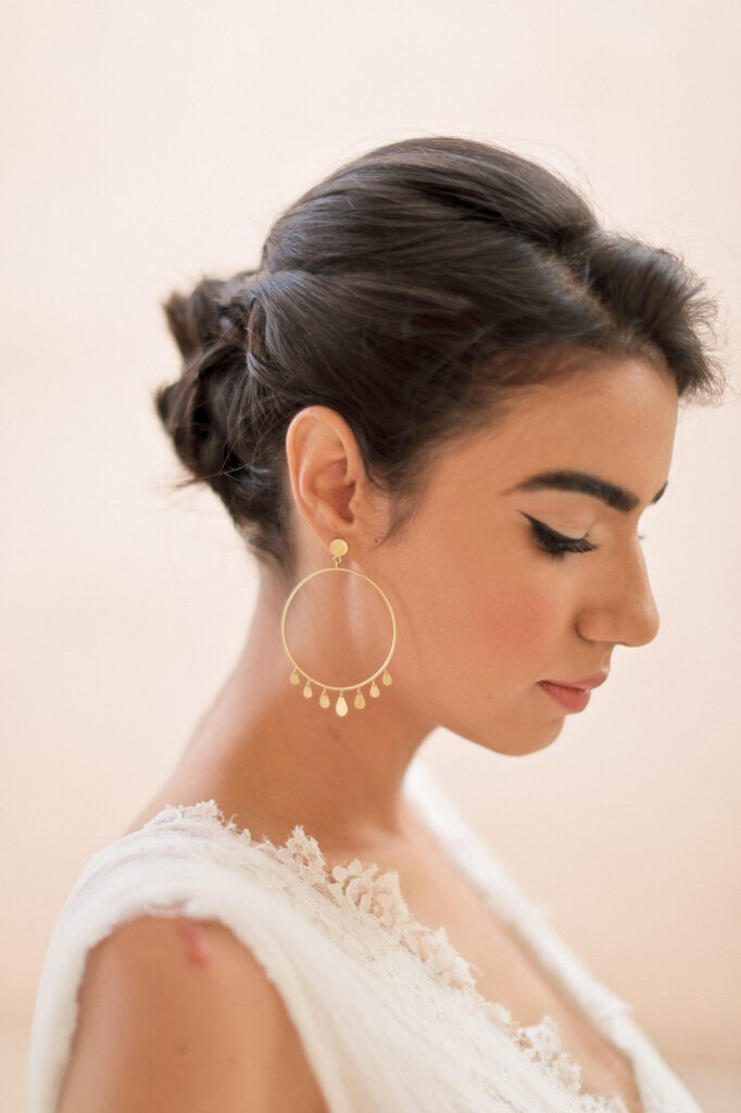 Hoop bridal earrings