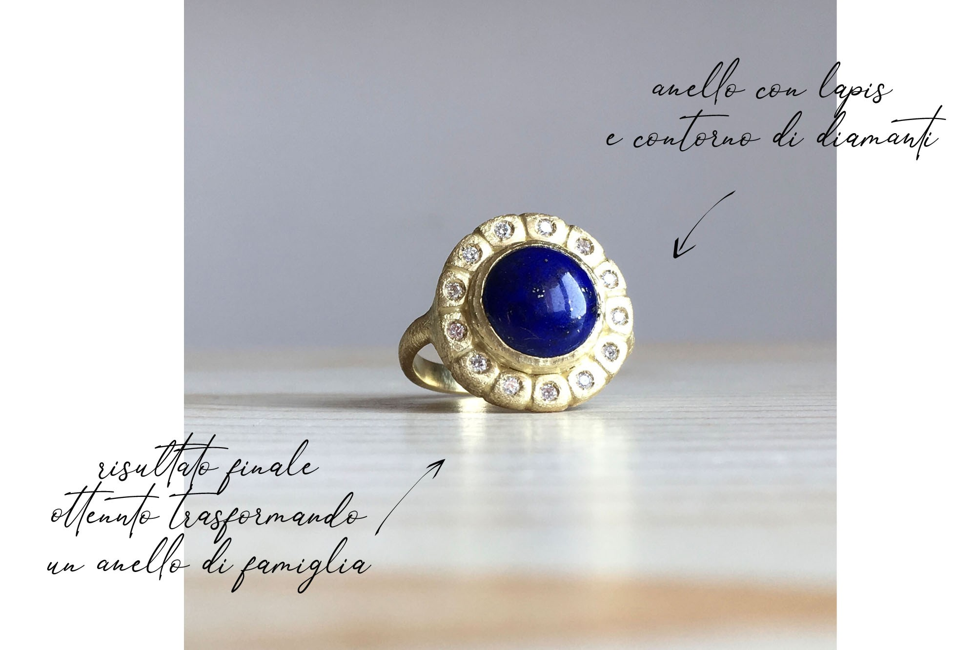 anello con lapis e diamanti My Golden Age